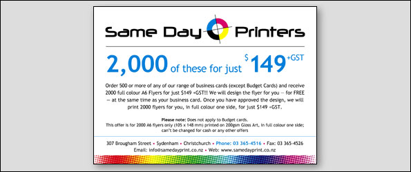 Same day printers our september special with 500 or more business cards order reheart Gallery